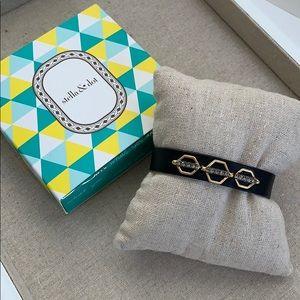 Stella & Dot Terra Leather Bracelet